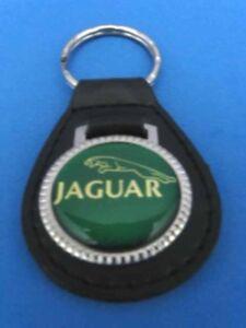 JAGUAR LEATHER KEYCHAIN KEY CHAIN RING FOB #039 GREEN