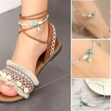 Women Shell Beads Starfish Anklets Sandal Statement Bracelet Foot Boho Jewelry