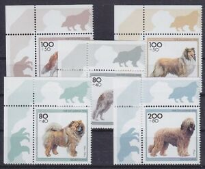 Federal Mi No. 1836 - 1840 Top Bow Corners, Dogs 1996, Mint, MNH