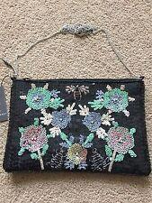 PRIMARK Sequined Crystals Floral With Bee's Handbag Bag Cross Body Shoulder BNWT