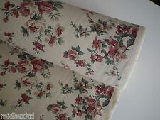 vintage rose blumendruck shabby chic, 100% handarbeit baumwolle 45 cm breit-m28 mtex