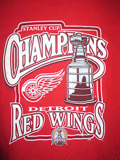 2002 Stanley Cup Champions DETROIT RED WINGS (XL) T-Shirt
