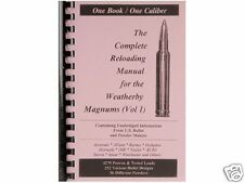 Weatherby Magnums Vol. 1 Reloading Manual LOADBOOKS USA  New