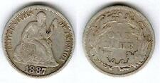 USA @ RARE MONNAIE DE ONE DIME LIBERTY DES ETATS UNIS ARGENT DE 1887 @ RARE TOP