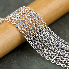 3x2.1mm Sterling Silver Plated Cable Chains Link c213s (6ft)