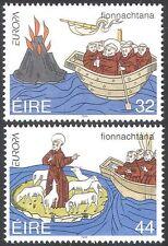 Ireland 1994 Saint Brendan/Boat/Volcano/Sheep/Religion/Animation 2v set (n14310)