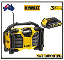 Dewalt 10.8V 18V Jobsite Radio Charger XR Li-Ion Slide DCR017 & LITHIUM BATTERY