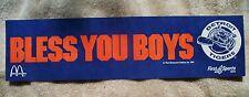 Detroit Tigers 1984 Bless You Boys McDonalds Bumper Sticker WDIV T.V. Free Ship