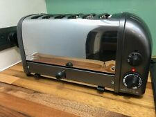 Dualit 6 Slice Toaster Stainless Steel & Gun Metal, All New Element D6BMHA 60156