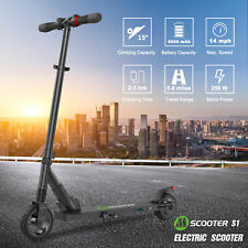 Folding Electric Scooter 250W Aluminum Portable Black Kick City E-Scooter 14MPH