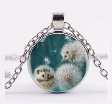 1pc Cute Hedgehog Cherry Lampwork Glass Bead Collier Pendentif p866/_2