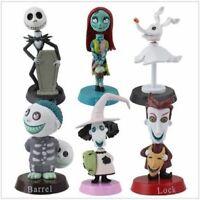6PCS Nightmare Before Christmas Jack Sally Action Figure Kid Birthday Gift Toy