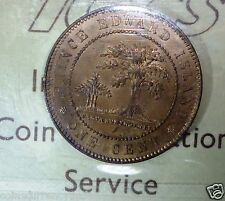RED. Prince Edward Island Cent 1871 . KM# 4  CANADA