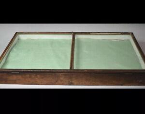 Edwardian Museum/Shop Tapered Table Top Bijouterie Cabinet W49 x L92 x H12.5cm