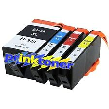 Set di 920XL 4 CARTUCCE D'INCHIOSTRO COMPATIBILI PER HP Officejet 6000, 6500, 7000, 7500