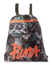 fee224255833 PUMA Sackpack Backpack CARRYSACK CAMO GREEN Drawstring GYM Light ONE SIZE  NEW