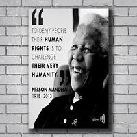 New Nelson Mandela Silk Custom Poster Print Art Decor T-536