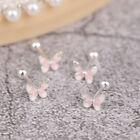 Cute Butterfly Screw Back Stud Earrings Gift For Girls Mini EarrinYK