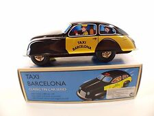 Schylling Protocol voiture en tôle frictionTaxi Barcelona 19 cm tin toy neuf