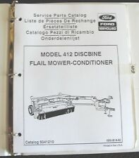 NEW HOLLAND 412 DISCBINE FLAIL MOWER CONDITIONER PARTS CATALOG MANUAL W/BINDER
