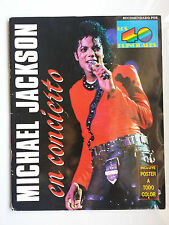 "MICHAEL JACKSON ""EN CONCIERTO"" RARE SPANISH BOOK WITH A2 SIZE POSTER (UNUSED)"