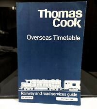 More details for thomas cook overseas timetable july aug 1984 vintage rail & shipping schedules