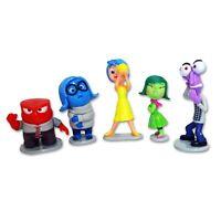 5 Figura Personajes INSIDE OUT Sentimientos Goia Tristeza Miedo Pastel