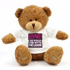 Justie - The Woman, Myth, Legend Teddy Bear - Gift For Fun