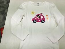 NWT GYMBOREE  SMART AND SWEET EMBROIDERED  GIRL IN CAR LS  SHIRT  SZ   8