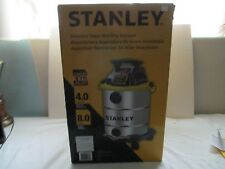 Stanley Vacuum Wet/Dry 8 Gallon 110/120 Volt Stainless Steel SL18117  New  Box