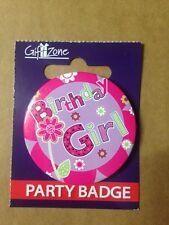 Birthday Celebration Party Badge Birthday Girl  ,