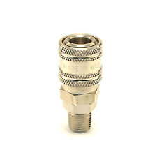 "Stainless Steel Quick Connect Coupler 1/4"" Male Npt Air Hose Fittings Usa"