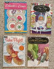 Lot Of 4 New Collectors Travel/Outdoors &Fantasy Adult Coloring Books BN Grwn Up