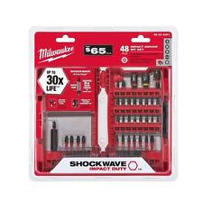 Milwaukee Impact Duty Driver Bit Set 48 Piece Screwdriver Driving Drill Bits Set