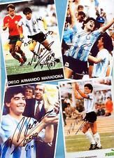 Diego Armando MARADONA  - 4 TOP AK - Bilder (1) Print Copies + AK Fussball - WM