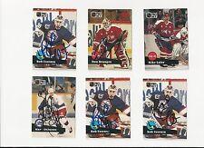 91/92 Pro Set Autographed Hockey Card Mark Osboure Winnipeg Jets