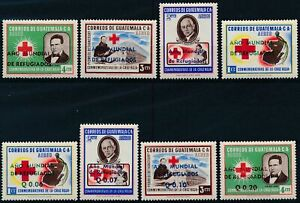 [P50077] Guatemala Airmail 1960 Airmail Red Cross good set MNH VF stamps