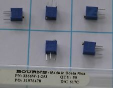 5pcs 3266W-1-253 Bourns Trimpot Cermet Trimmer POT 12 Turn .25W 25K Ohm