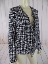 For Cynthia Petite Blazer PL Black White Houndstooth Acrylic Poly Wool Blend New