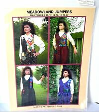 Mary's Patterns 4 Meadowland Garden Jumpers Modest Women's Quilt Sewing 8-22