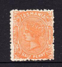 Tasmania: 1/2d Dull Orange Sideface Qv Sg 159a Perf 11.5 Wmk Tas Mh