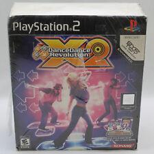 PS2 Dance Dance Revolution X2 Set with Mat/Pad Complete in Box CIB DDR X 2 RARE