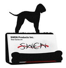Swen Products Bedlington Terrier Dog Black Metal Business Card Holder