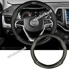 Leather Carbon Fiber Steering Wheel Decoration Cover for Jeep Grand Cherokee