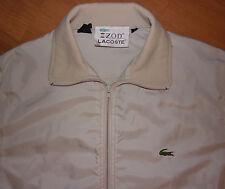 Vintage Izod Lacoste Beige Full Zip Men's Lightweight Nylon Jacket Size L