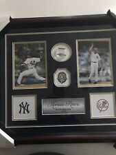 Mariano Rivera Authentic Piece Of Game Used Yankee Pants In Beautiful Wood Frame