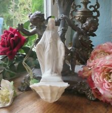 More details for a beautiful antique french bisque madonna  figurine / holy water benitier font