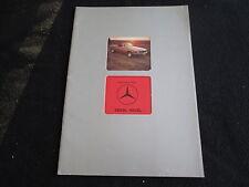 1977 76 Mercedes Benz 350SL 450SL Euro Sales Brochure W107 350 450 SL Catalog En