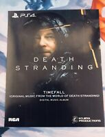 Death Stranding Timefall Soundtrack PS4 Collector's Edition Digital Slip NO GAME