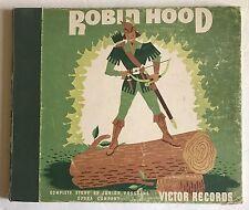 "ROBIN HOOD Junior Program Opera Company LP 78 RPM 10"" Victor Shellac Booklet1940"